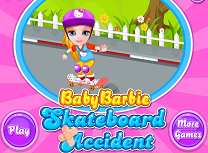 barbie accident cu skatebo...